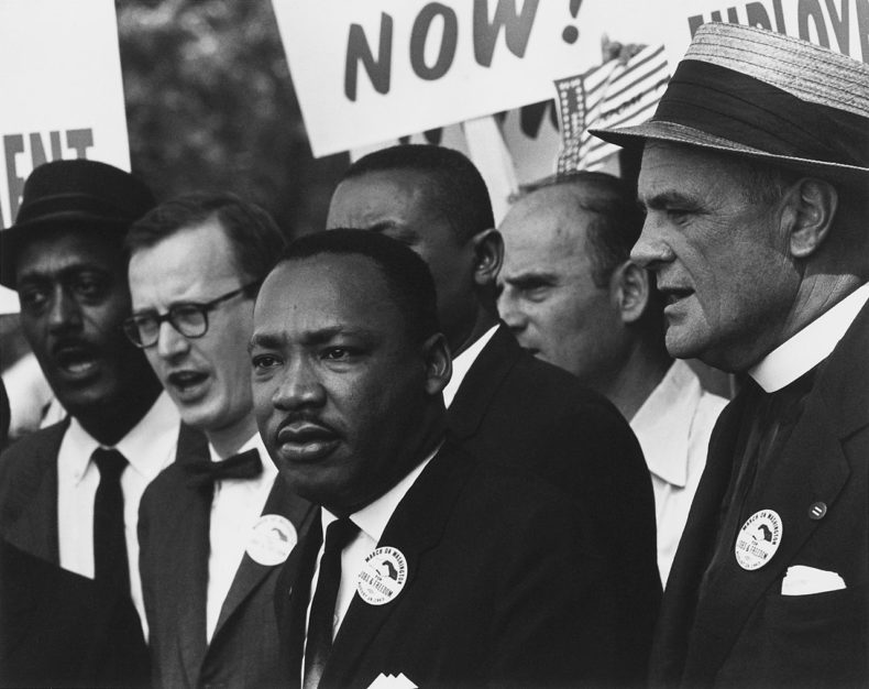 Martin Luther King at the 1963 Civil Rights march in Washington DC Photo Public Domain
