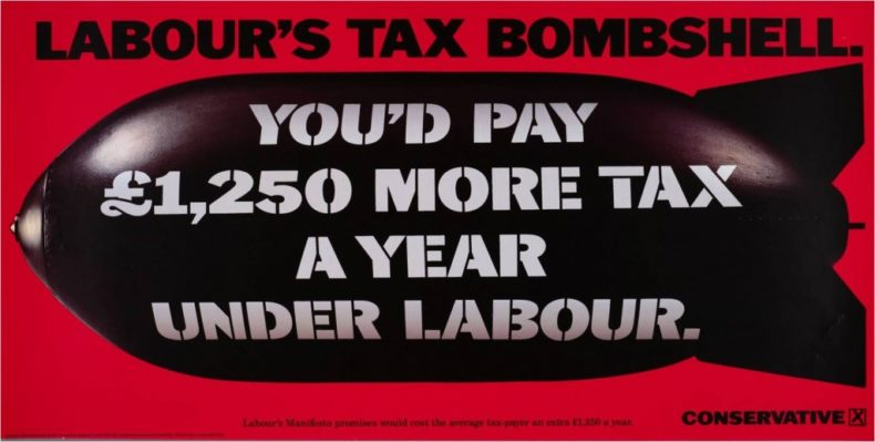 Labour Tax Bombshell - 1992 general election advert from Conservative Party