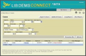 CONNECT Casework module screenshot
