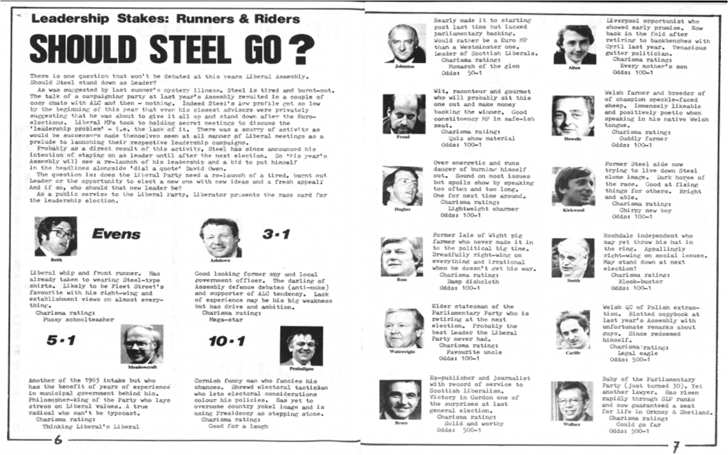 Should Steel go? - Liberator magazine