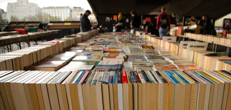 Book market on the South Bank in London