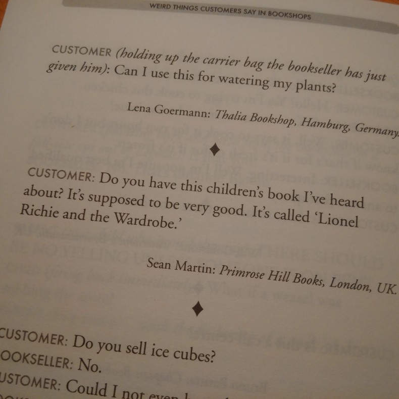 Weird Things Customers Say in Bookshops: the Lionel Richie joke