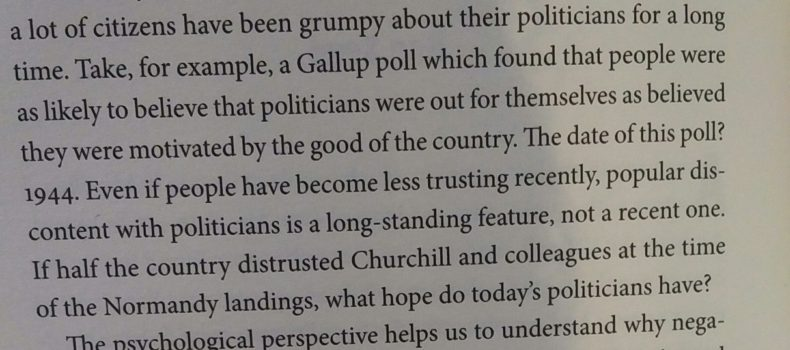1944 Gallup poll showing that scepticism of politicians is nothing new