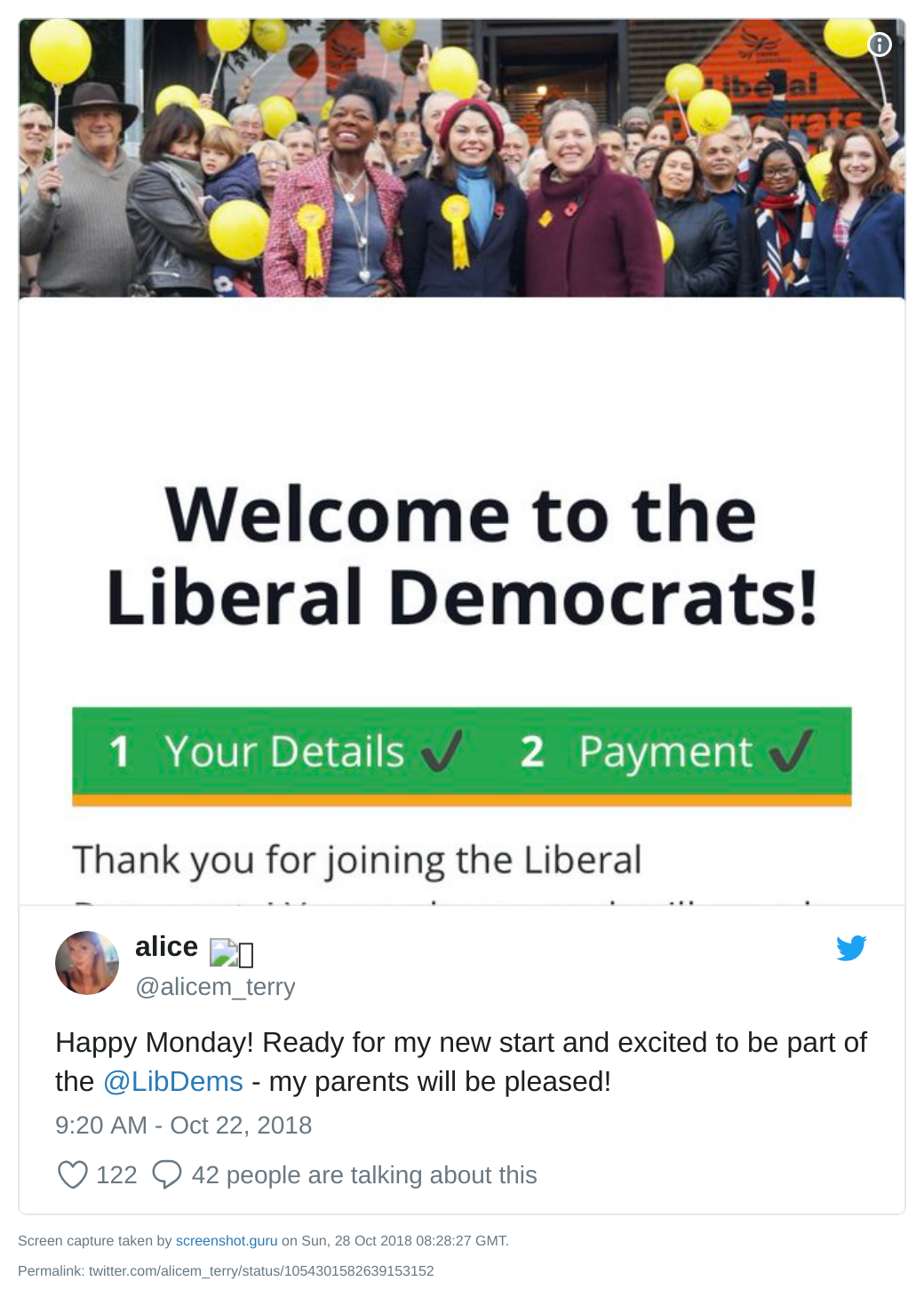 Alice Terry joins Lib Dems