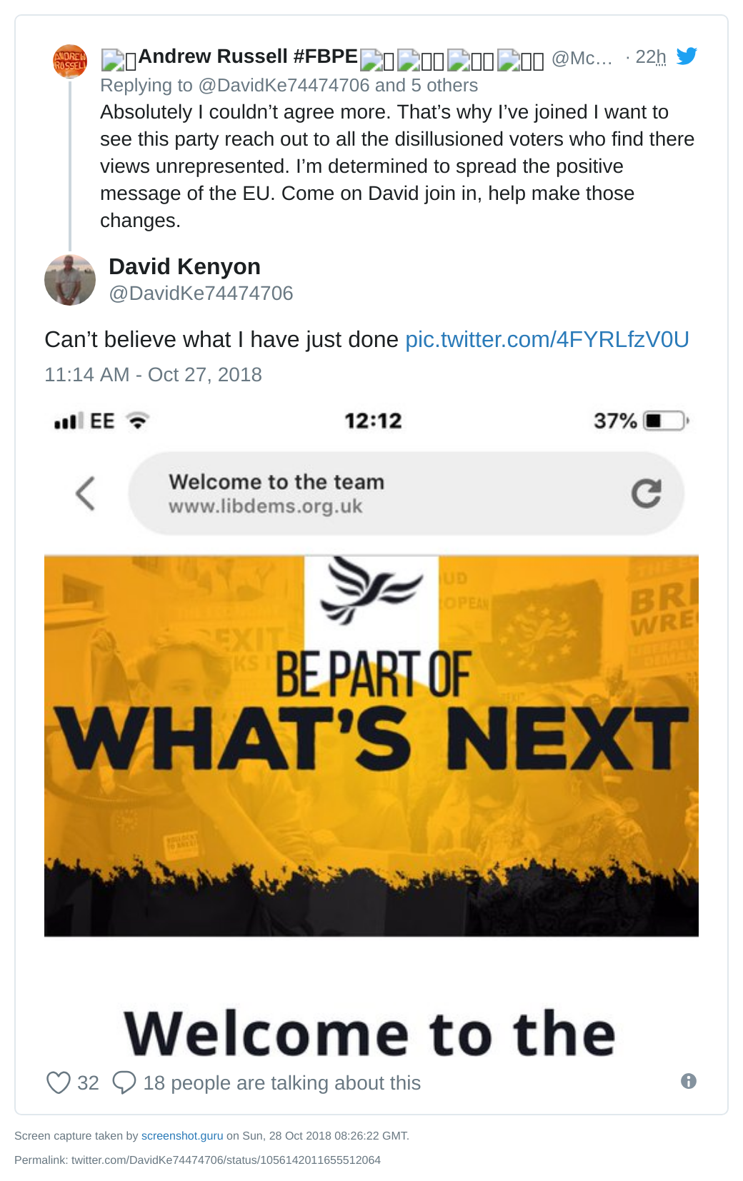 Daid Kenyon joins Lib Dems