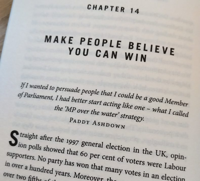 Paddy Ashdown quote on acting like an MP even before you are one