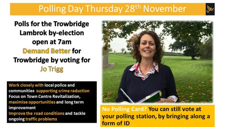 Jo Trigg Trowbridge Lambrok by-election leaflet