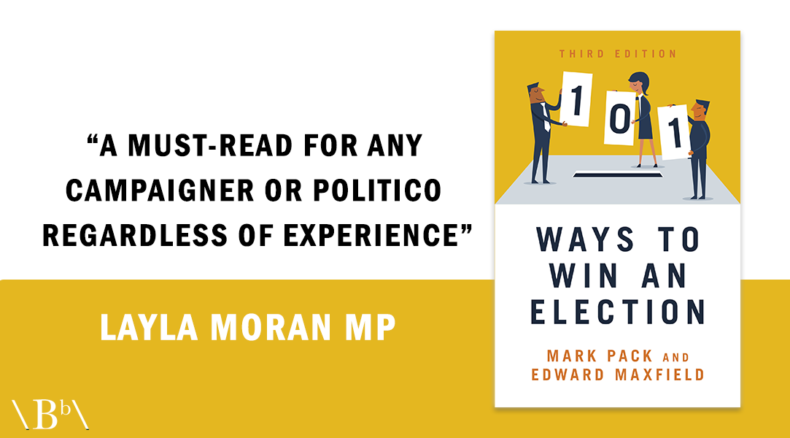 Layla Moran quote praising 101 Ways To Win An Election